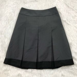 The Limited Pleaded Patterned Skirt